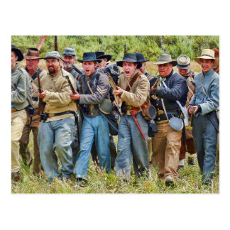 Confederate Charge Postcard