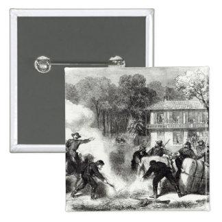 Confederate cotton burners near Memphis Pinback Button