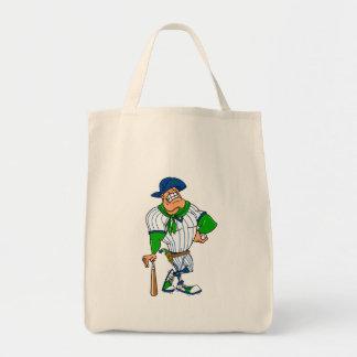 Confederate cowboy baseball tote bag