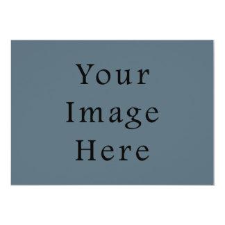 Confederate Dark Blue Color Trend Blank Template 5x7 Paper Invitation Card