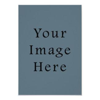 Confederate Dark Blue Color Trend Blank Template 3.5x5 Paper Invitation Card