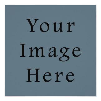 Confederate Dark Blue Color Trend Blank Template 5.25x5.25 Square Paper Invitation Card