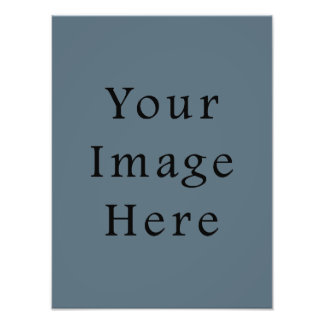 Confederate Dark Blue Color Trend Blank Template Photographic Print