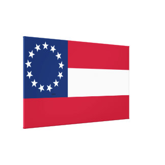 Confederate First National 13 Star Flag Canvas Print