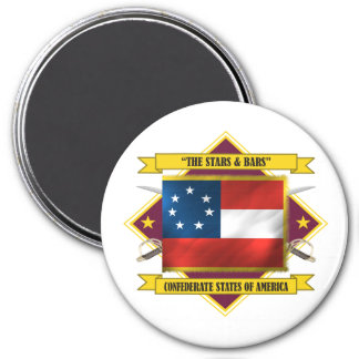 Confederate First National 3 Inch Round Magnet
