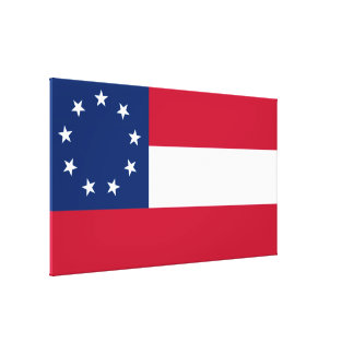 Confederate First National 9 Star Flag Canvas Print