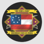 Confederate First National Classic Round Sticker