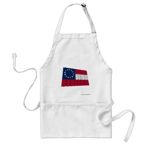 Confederate First National Flag, 13 Stars Aprons