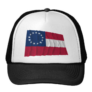 Confederate First National Flag 13 Stars Mesh Hats