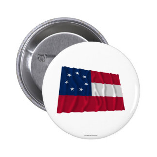 Confederate First National Flag, 7 Stars Pinback Buttons