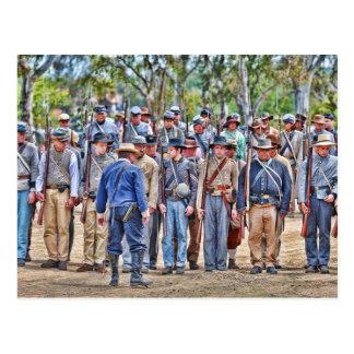 Confederate Formation Postcard