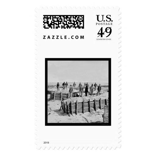 Confederate Fort Damnation Breastworks 1865 Postage