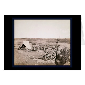 Confederate Fort near Atlanta, GA 1862 Card