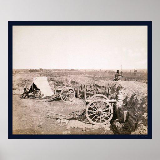 Confederate Fort near Atlanta, GA 1862 Poster