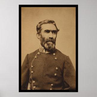Confederate General Braxton Bragg 1862 Poster