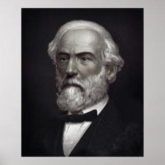 CONFEDERATE GENERAL ROBERT E. LEE - 1870 POSTER