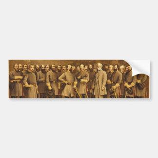 Confederate General Robert E. Lee and his Generals Bumper Stickers