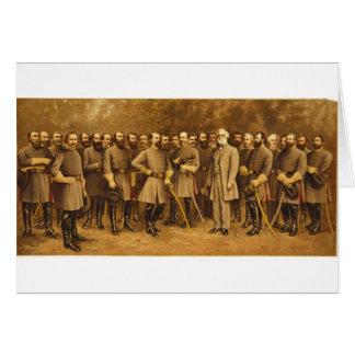 Confederate General Robert E. Lee and his Generals Card