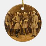 Confederate General Robert E. Lee and his Generals Ceramic Ornament