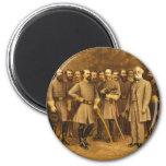 Confederate General Robert E. Lee and his Generals Fridge Magnet
