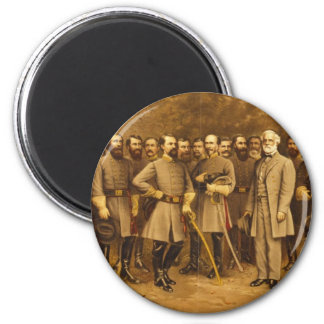 Confederate General Robert E. Lee and his Generals Magnet