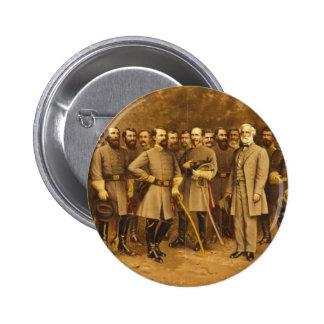 Confederate General Robert E. Lee and his Generals Pinback Button