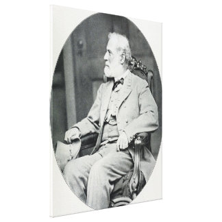 Confederate General Robert E. Lee Sitting in Chair Canvas Print