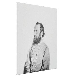 Confederate General Thomas J Stonewall Jackson Canvas Print