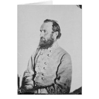 Confederate General Thomas J Stonewall Jackson Card
