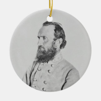 Confederate General Thomas J Stonewall Jackson Double-Sided Ceramic Round Christmas Ornament
