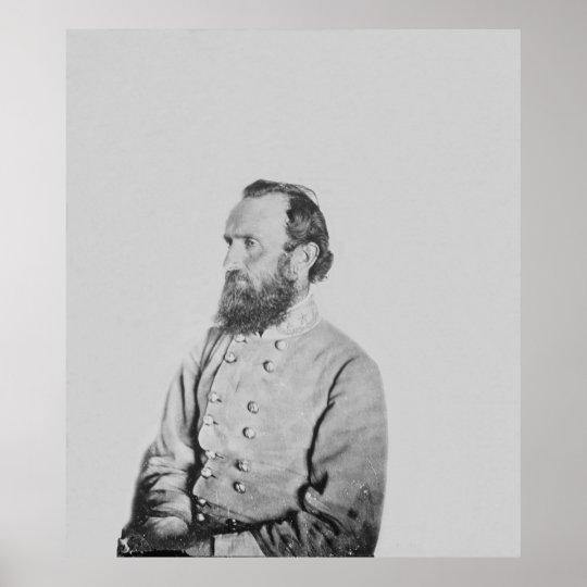 Confederate General Thomas J Stonewall Jackson Poster