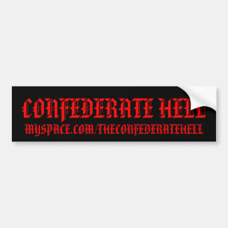 CONFEDERATE HELL BUMPER STICKERS