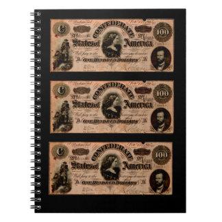 Confederate Hundred Dollar Bills Notebook