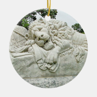 Confederate Lion of Atlanta, Oakland Cemetery, Ceramic Ornament