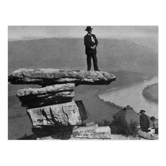 Confederate Look Out at Lookout Mountain Georgia Postcard