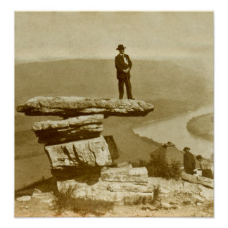 Confederate Look Out at Lookout Mountain Georgia Poster