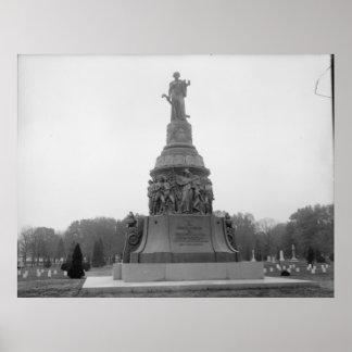 Confederate Memorial, Arlington Cemetery Monument Print