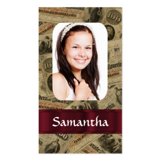 Confederate money photo template Double-Sided standard business cards (Pack of 100)