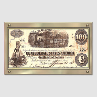 Confederate Money Sticker