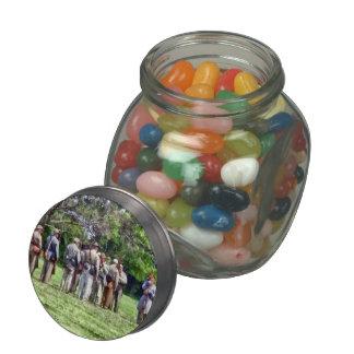 Confederate Muster Glass Jar
