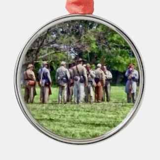 Confederate Muster Metal Ornament