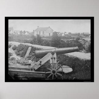 Confederate Naval Gun in Yorktown, VA 1862 Poster