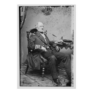Confederate Navy Admiral Franklin Buchanan Poster
