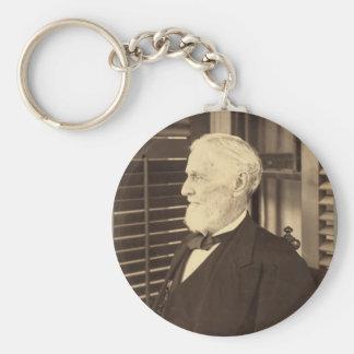 Confederate President Jefferson Davis by E. Wilson Basic Round Button Keychain