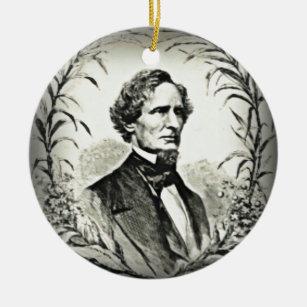 President Jefferson Davis Signature Series Christmas Ornament With Facsimile Signature On Back