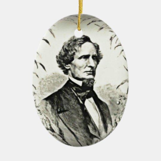 Confederate President Jefferson Davis Ceramic Ornament