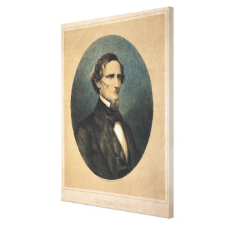 Confederate President Jefferson Davis Portrait Canvas Print