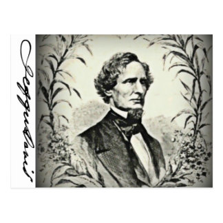 Confederate President Jefferson Davis Postcard