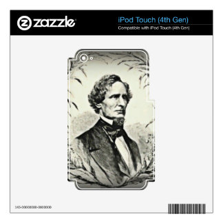 Confederate President Jefferson Davis Decal For iPod Touch 4G