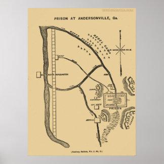 Confederate Prison at Andersonville, Georgia Poster